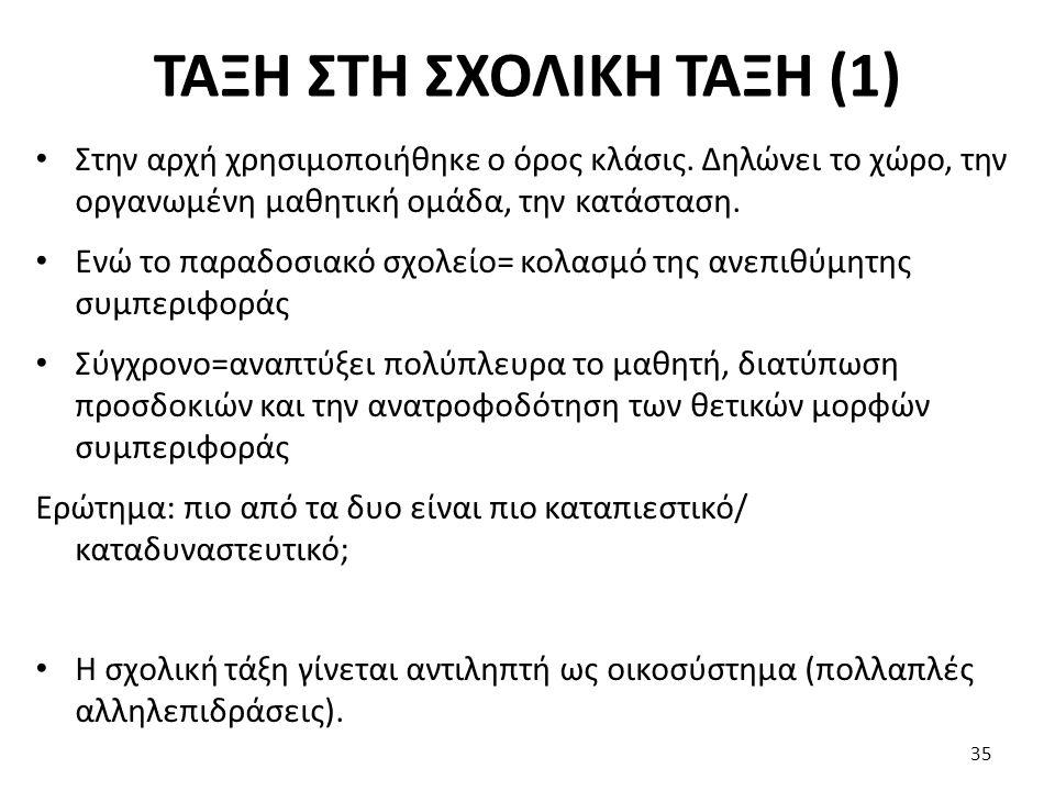 ΤΑΞΗ ΣΤΗ ΣΧΟΛΙΚΗ ΤΑΞΗ (1)