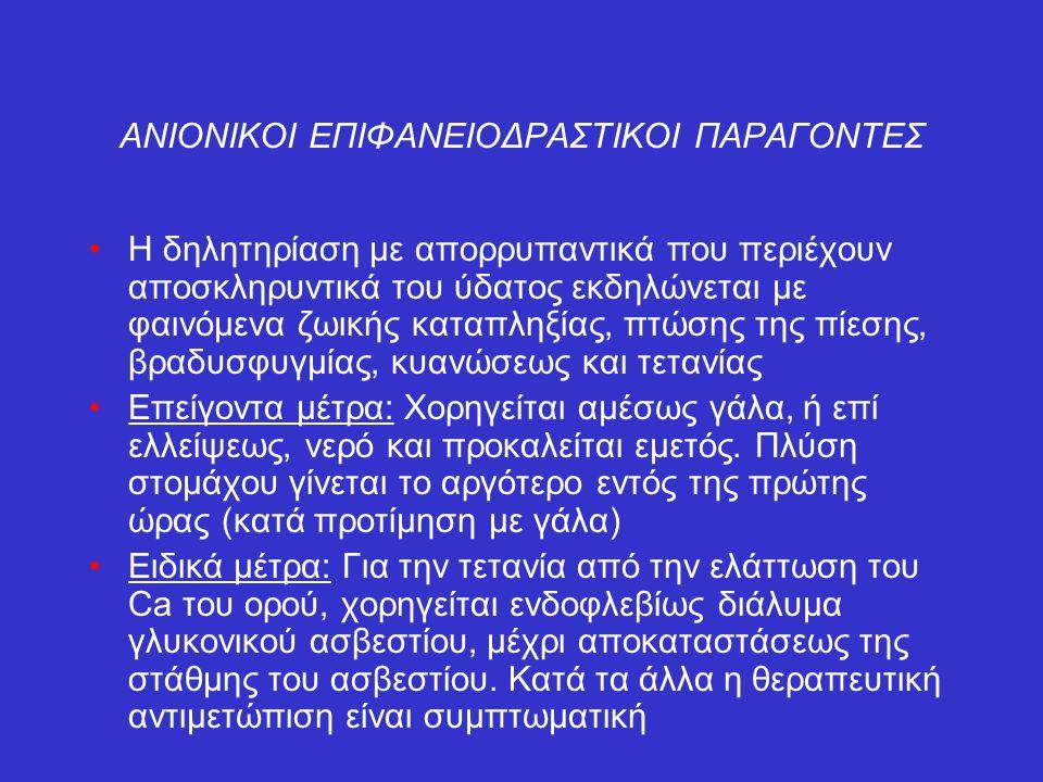 ΑΝΙΟΝΙΚΟΙ ΕΠΙΦΑΝΕΙΟΔΡΑΣΤΙΚΟΙ ΠΑΡΑΓΟΝΤΕΣ