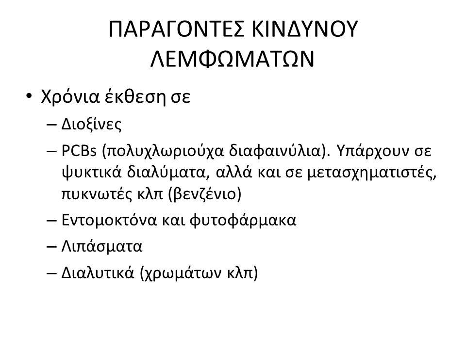 ΠΑΡΑΓΟΝΤΕΣ ΚΙΝΔΥΝΟΥ ΛΕΜΦΩΜΑΤΩΝ