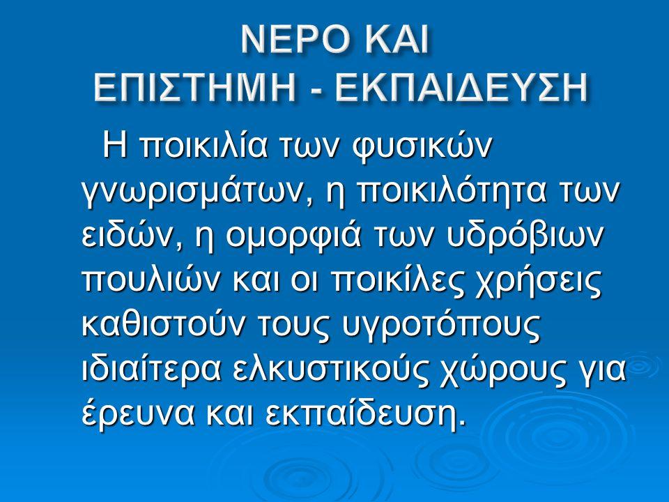 ΝΕΡΟ ΚΑΙ ΕΠΙΣΤΗΜΗ - ΕΚΠΑΙΔΕΥΣΗ