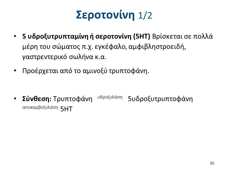 Δράση και αποδομή της σεροτονίνης