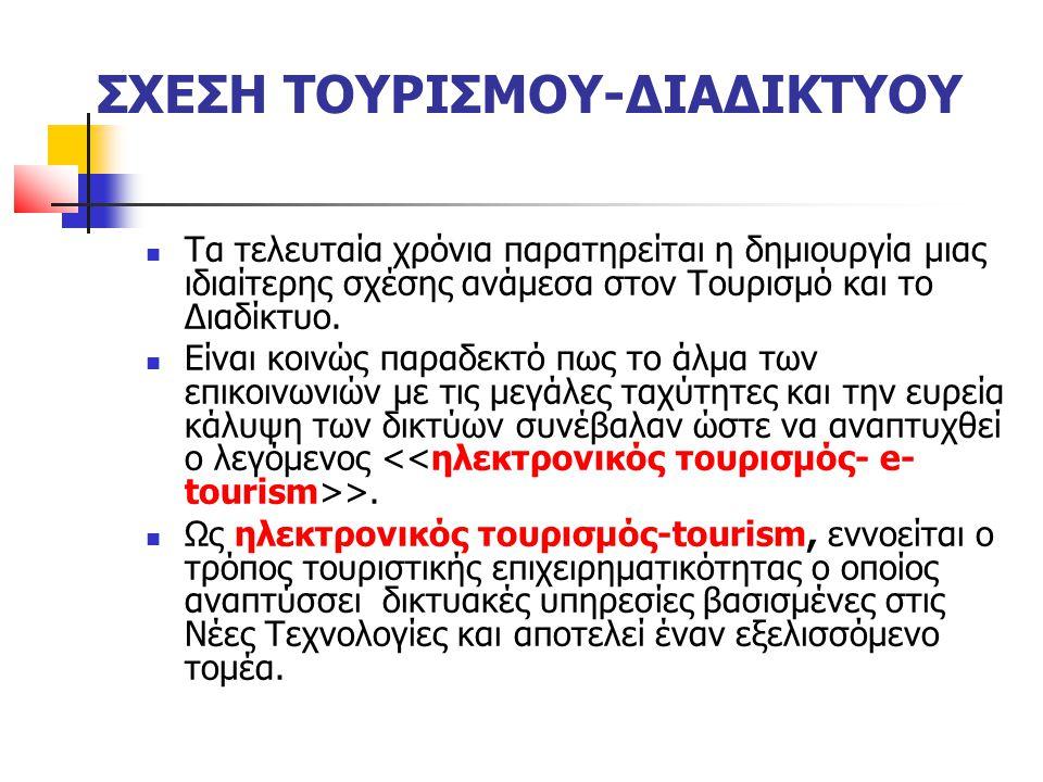 ΣΧΕΣΗ ΤΟΥΡΙΣΜΟΥ-ΔΙΑΔΙΚΤΥΟΥ