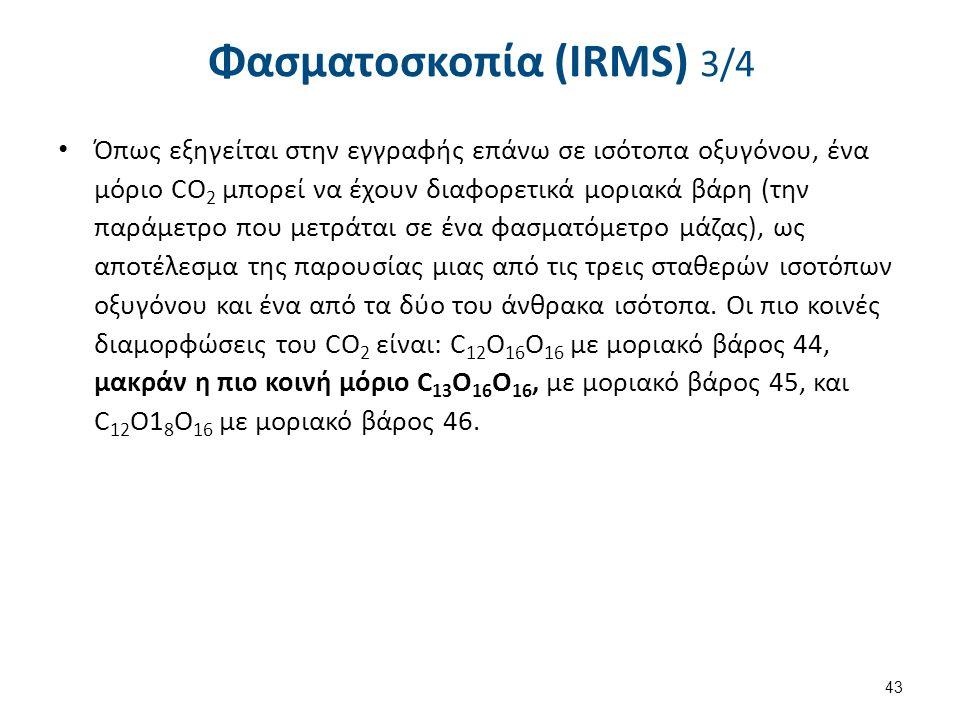 Φασματοσκοπία (IRMS) 4/4