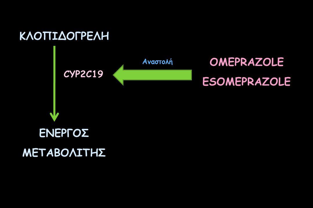 ΚΛΟΠΙΔΟΓΡΕΛΗ ΕΝΕΡΓΟΣ ΜΕΤΑΒΟΛΙΤΗΣ OMEPRAZOLE ESOMEPRAZOLE