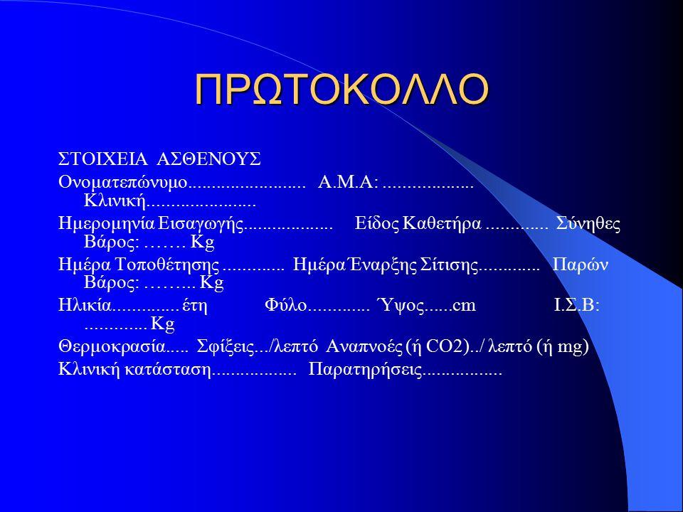 ΠΡΩΤΟΚΟΛΛΟ ΣΤΟΙΧΕΙΑ ΑΣΘΕΝΟΥΣ