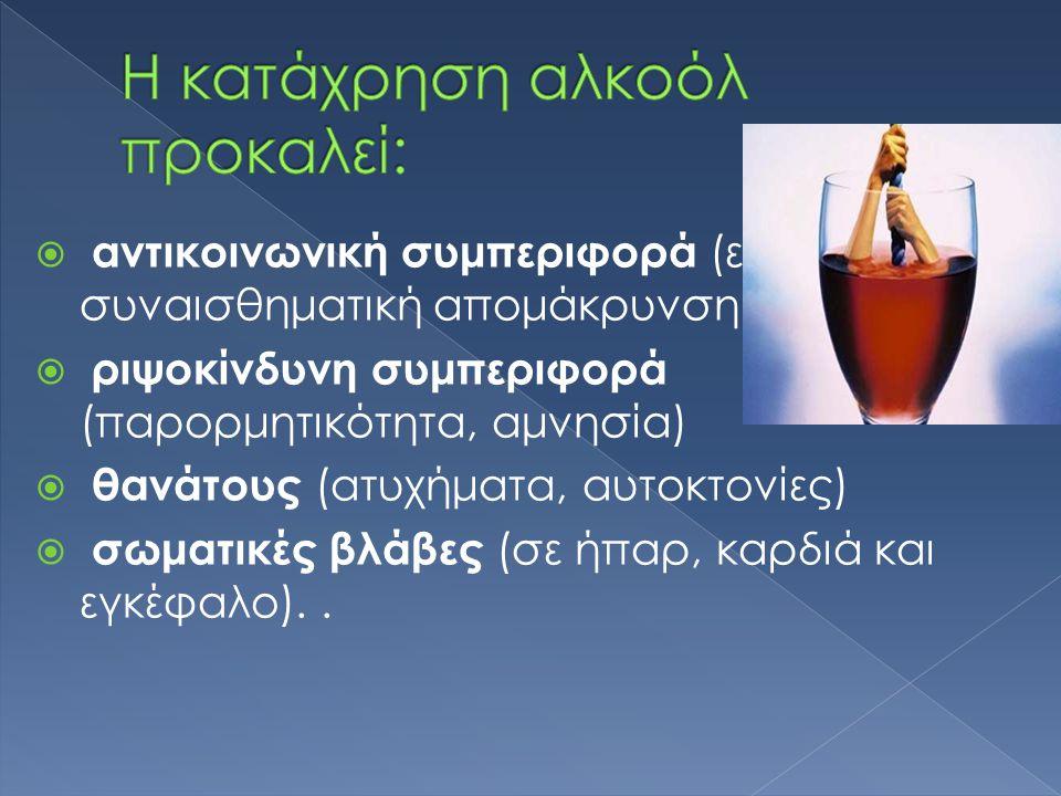 Η κατάχρηση αλκοόλ προκαλεί:
