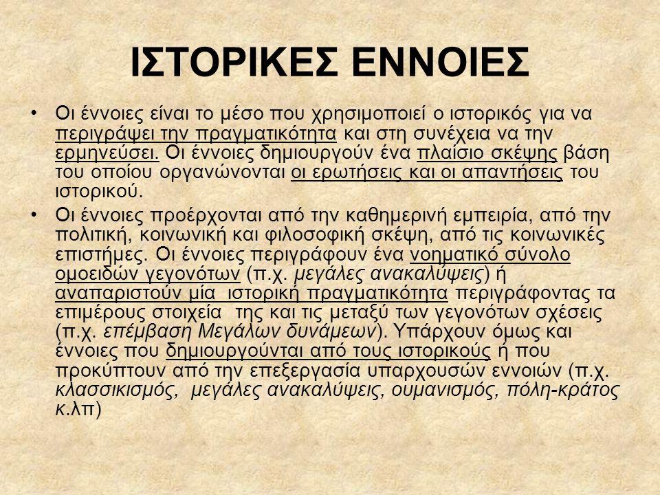 ΙΣΤΟΡΙΚΕΣ ΕΝΝΟΙΕΣ