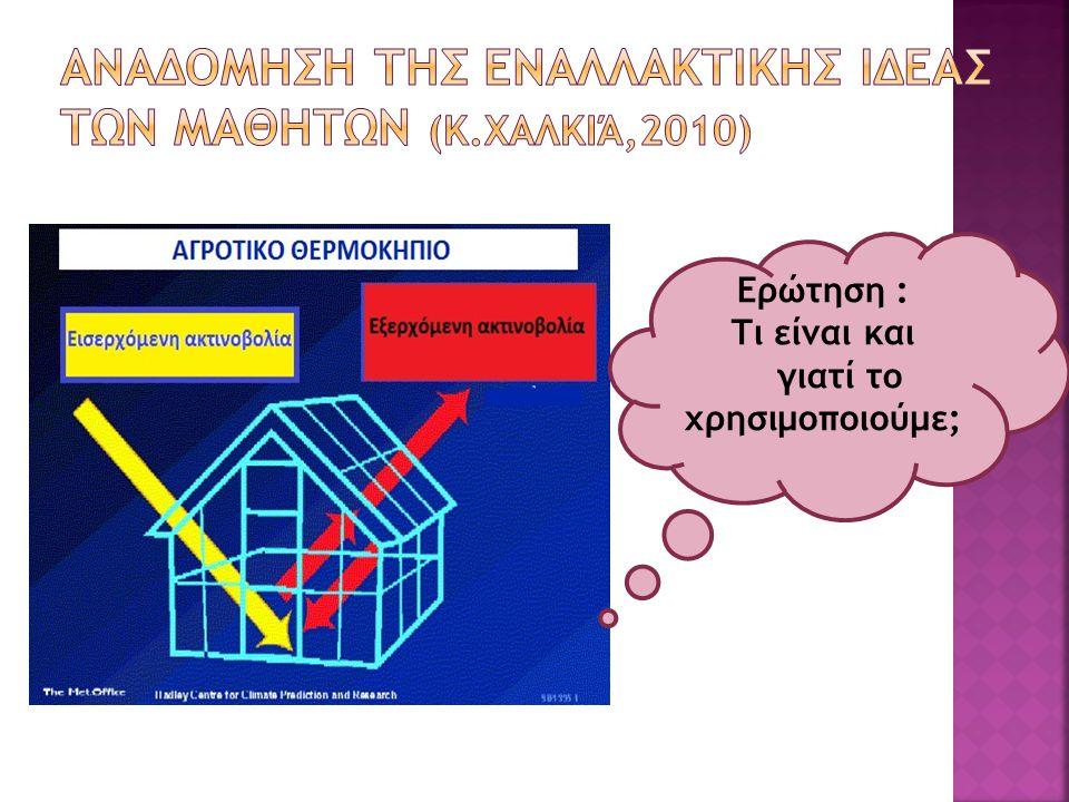 Αναδομηση τησ εναλλακτικησ ιδεασ των μαθητων (κ.Χαλκιά,2010)