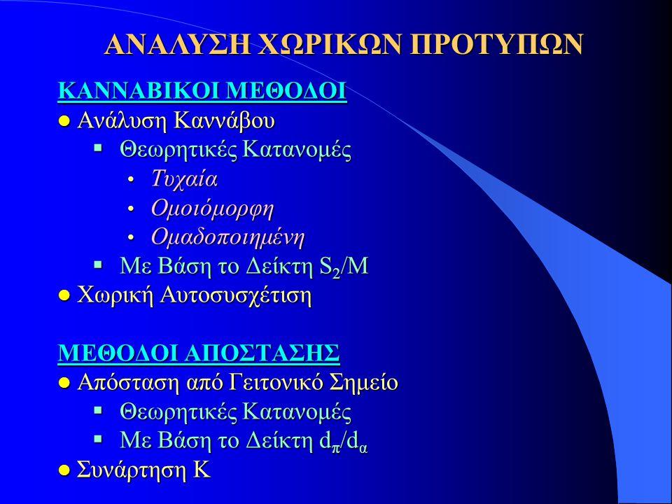 ΑΝΑΛΥΣΗ ΧΩΡΙΚΩΝ ΠΡΟΤΥΠΩΝ