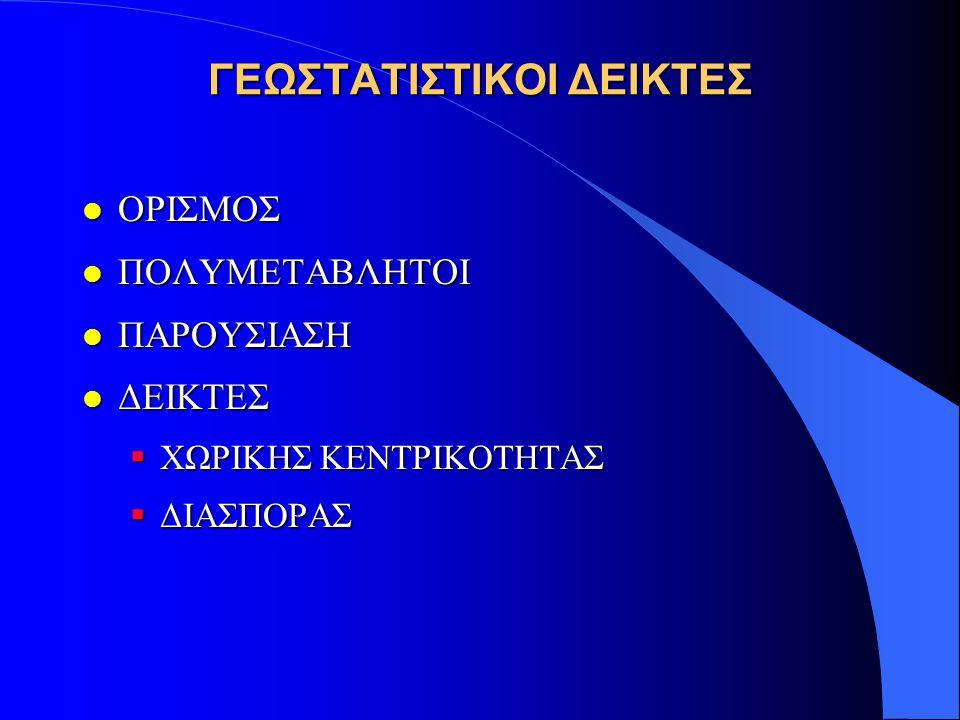 ΓΕΩΣΤΑΤΙΣΤΙΚΟΙ ΔΕΙΚΤΕΣ