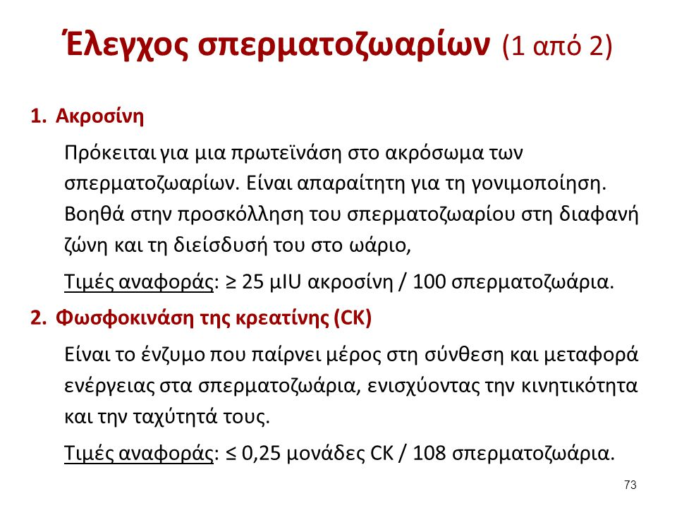 Έλεγχος σπερματοζωαρίων (2 από 2)