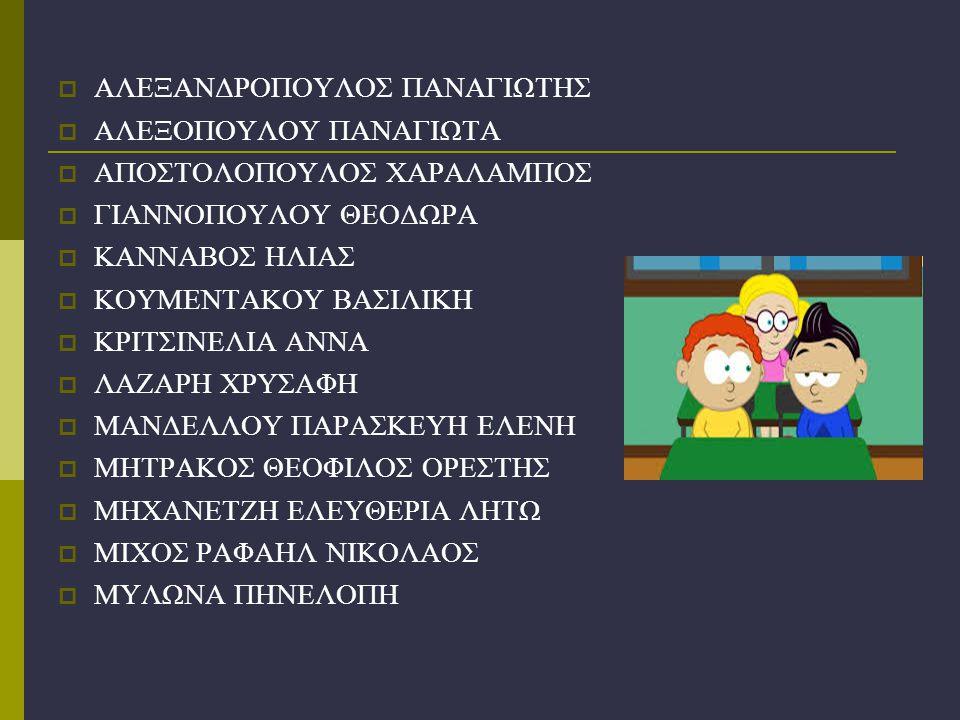 ΑΛΕΞΑΝΔΡΟΠΟΥΛΟΣ ΠΑΝΑΓΙΩΤΗΣ
