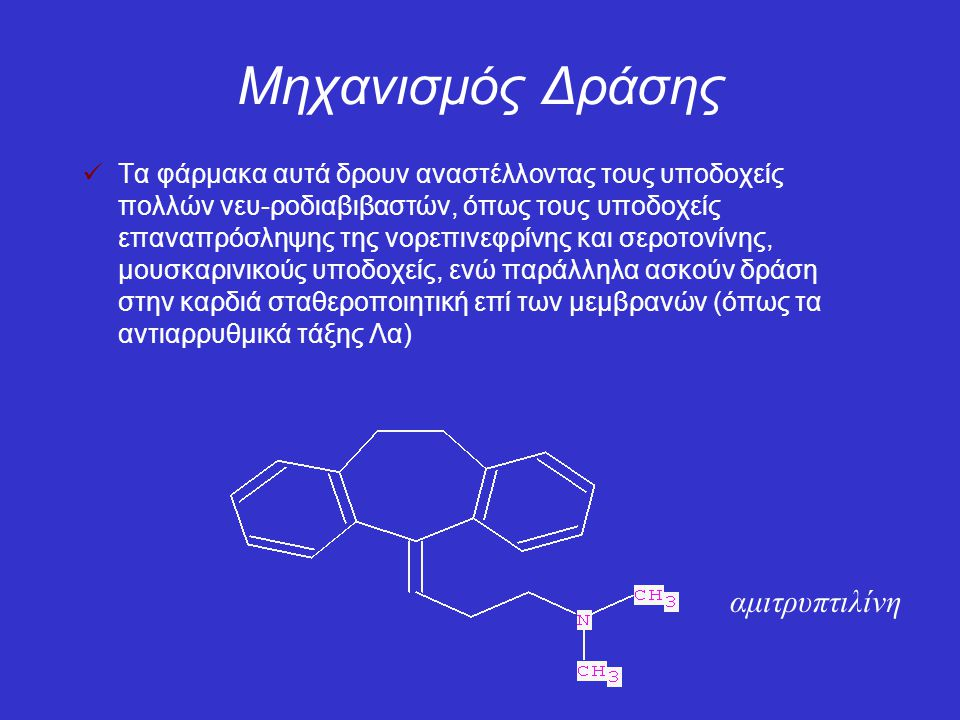 Μηχανισμός Δράσης αμιτρυπτιλίνη