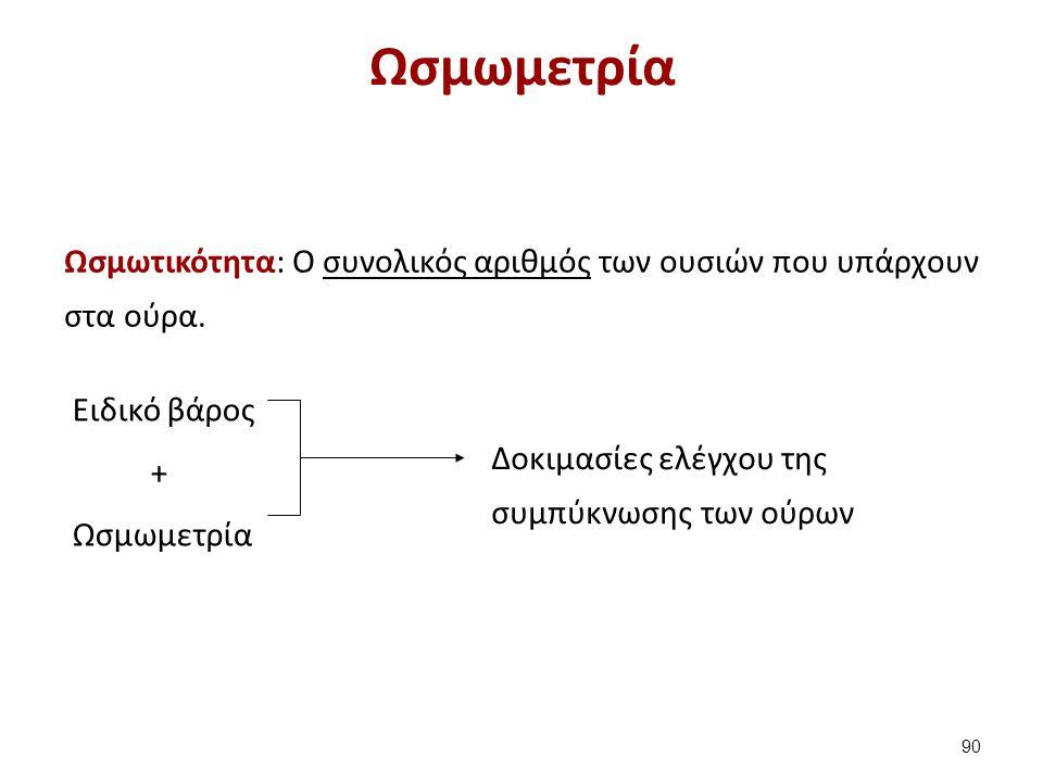 Ωσμώμετρα H μέτρηση της ωσμωτικότητας γίνεται με τα ωσμώμετρα.