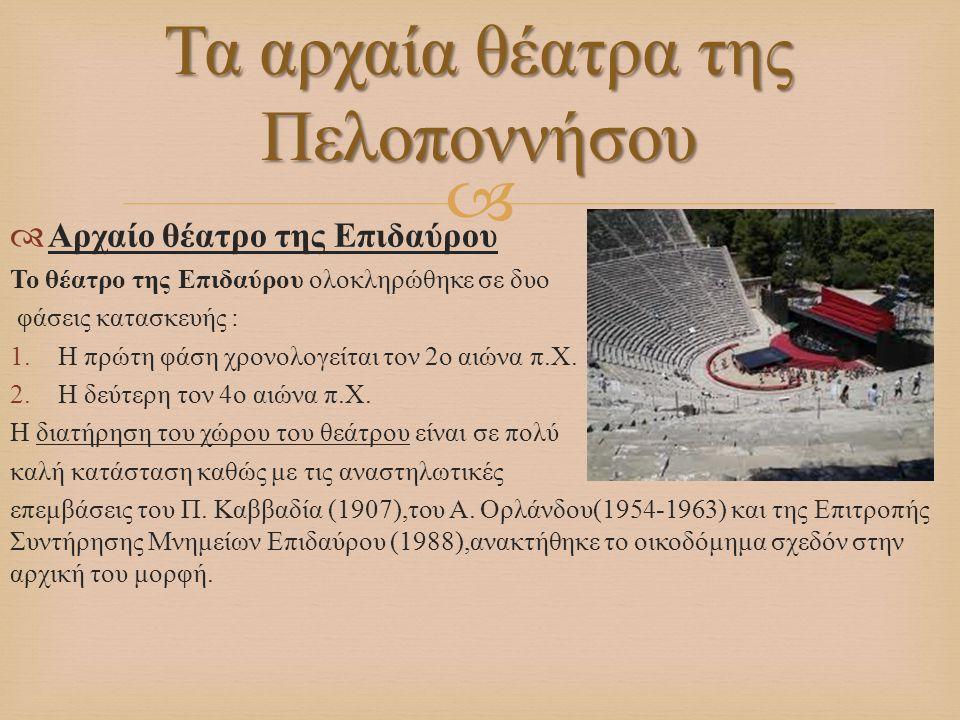 Τα αρχαία θέατρα της Πελοποννήσου