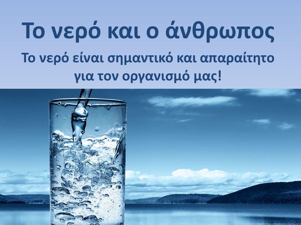 Το νερό είναι σημαντικό και απαραίτητο για τον οργανισμό μας!