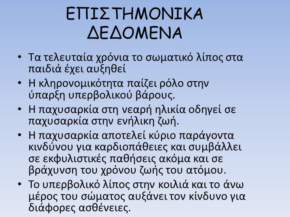 ΕΠΙΣΤΗΜΟΝΙΚΑ ΔΕΔΟΜΕΝΑ
