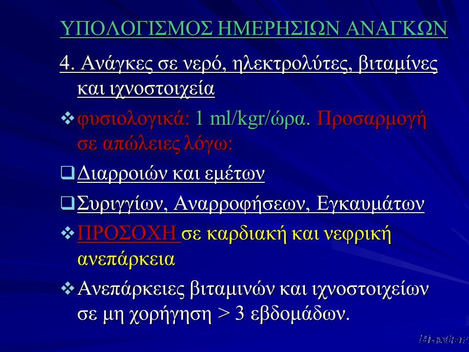 ΥΠΟΛΟΓΙΣΜΟΣ ΗΜΕΡΗΣΙΩΝ ΑΝΑΓΚΩΝ