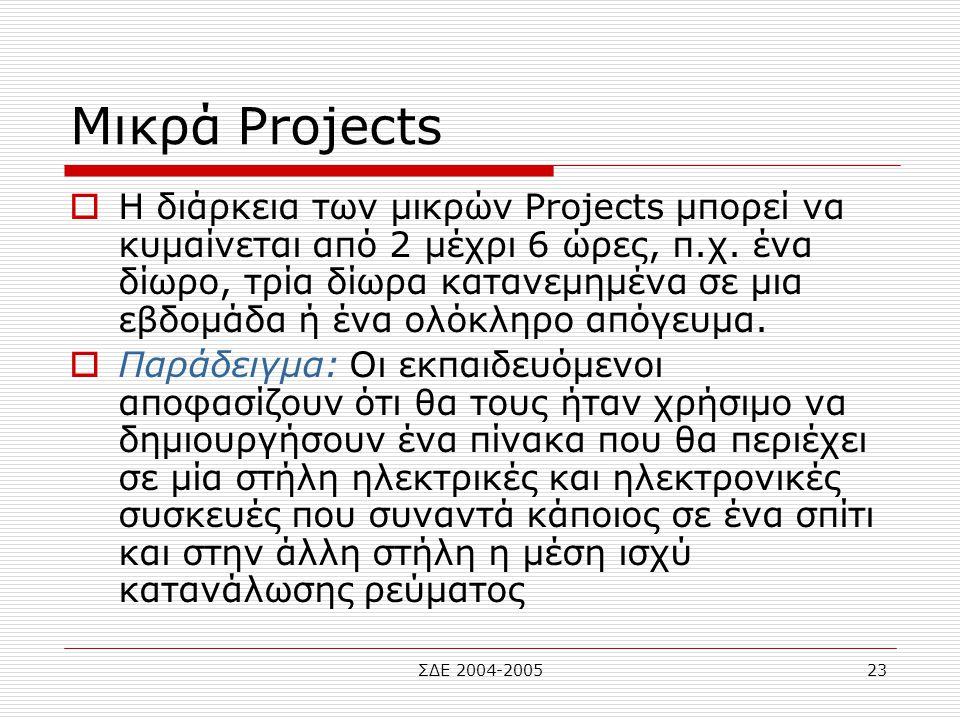 Μικρά Projects