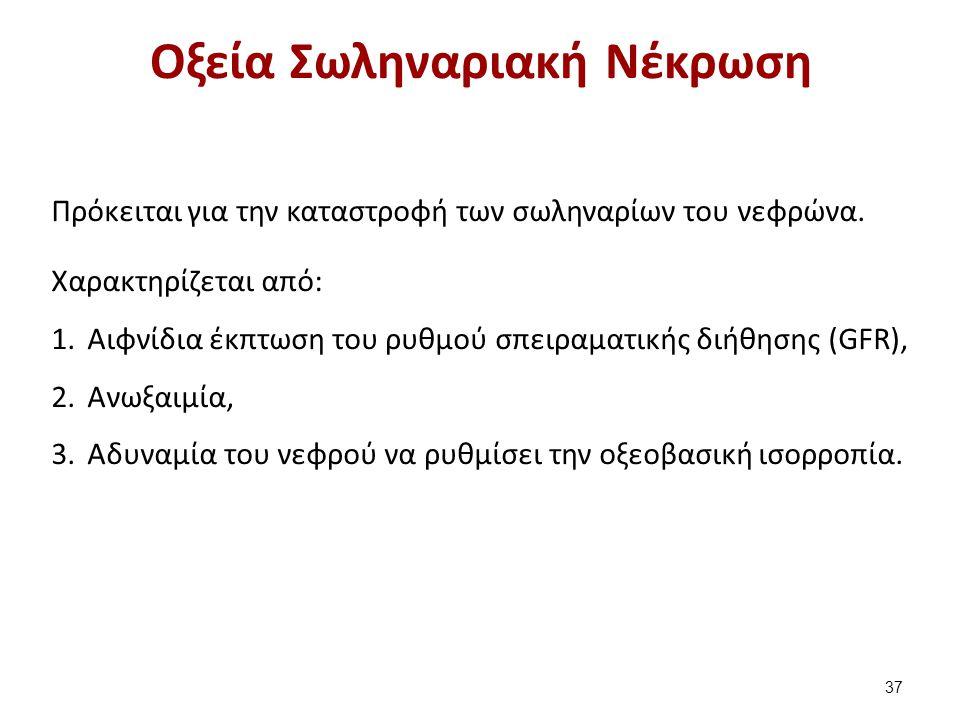 Αίτια Οξείας Σωληναριακής Νέκρωσης