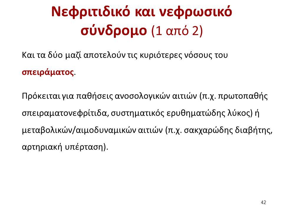 Νεφριτιδικό και νεφρωσικό σύνδρομο (2 από 2)