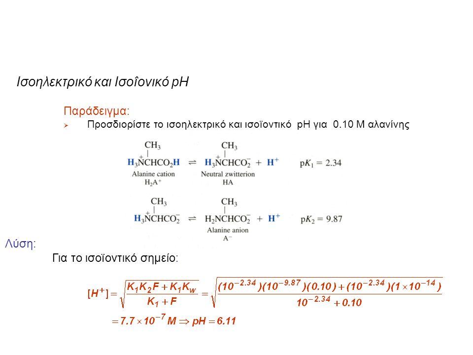 Ισοηλεκτρικό και Iσοîονικό pH