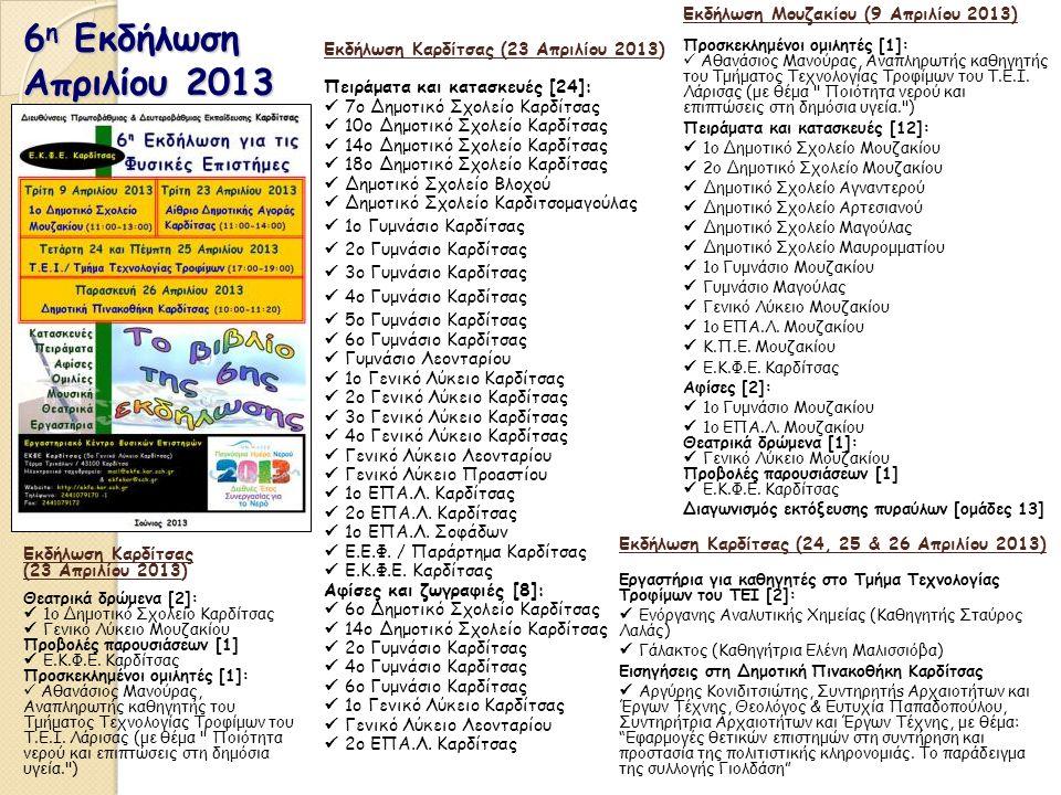 6η Εκδήλωση Απριλίου 2013 Εκδήλωση Μουζακίου (9 Απριλίου 2013)