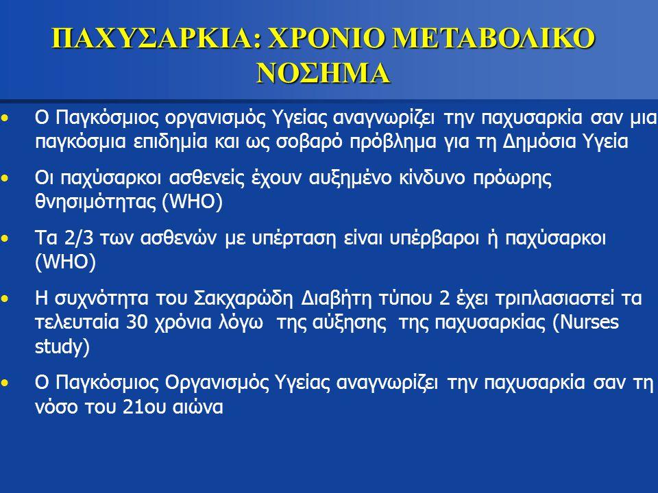 ΠΑΧΥΣΑΡΚΙΑ: ΧΡΟΝΙΟ ΜΕΤΑΒΟΛΙΚΟ ΝΟΣΗΜΑ