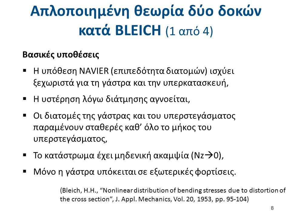 Απλοποιημένη θεωρία δύο δοκών κατά BLEICH (2 από 4)