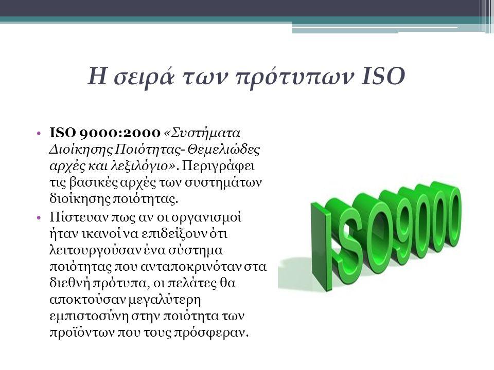 Η σειρά των πρότυπων ISO