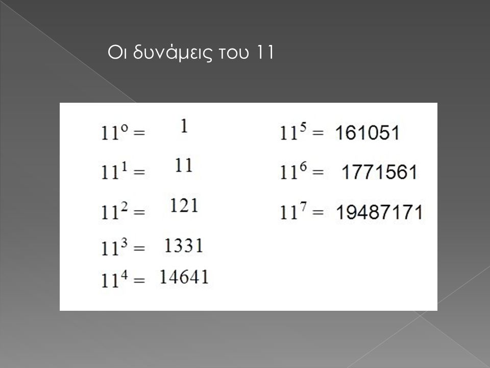 Οι δυνάμεις του 11