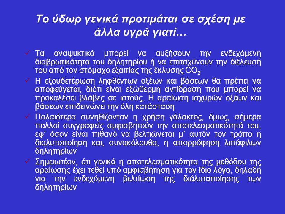 Το ύδωρ γενικά προτιμάται σε σχέση με άλλα υγρά γιατί…