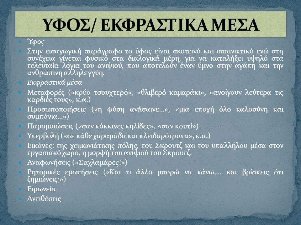 ΥΦΟΣ/ ΕΚΦΡΑΣΤΙΚΑ ΜΕΣΑ Ύφος