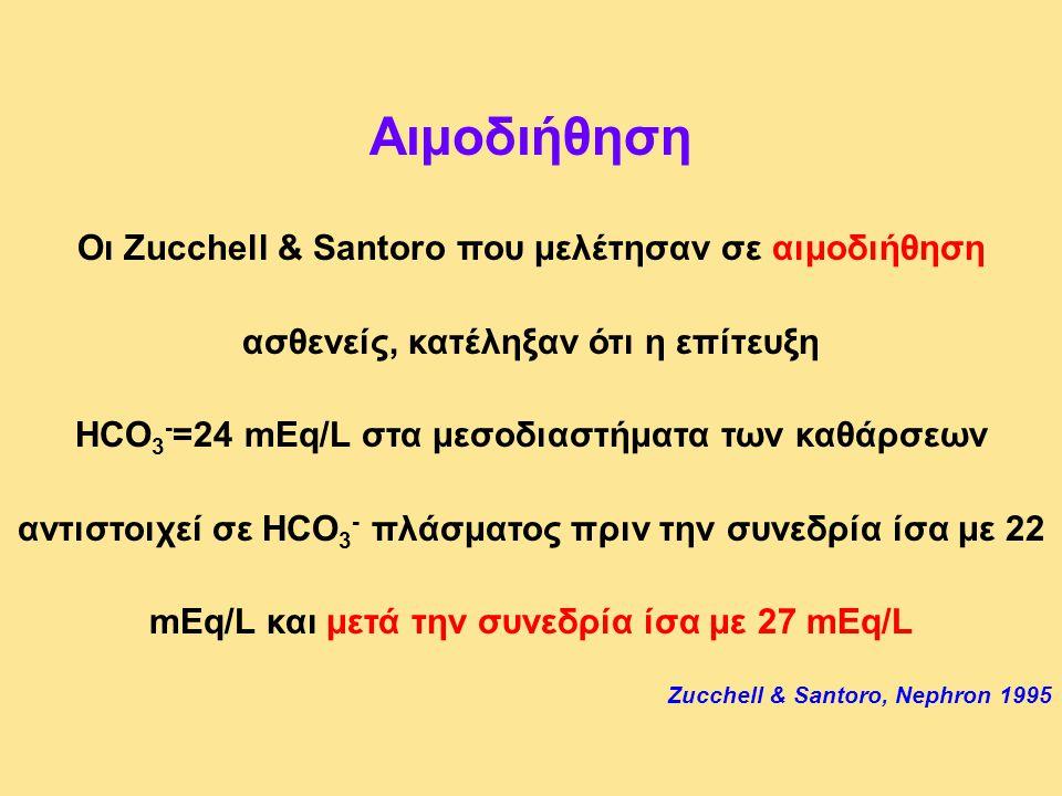 Αιμοδιήθηση Οι Zucchell & Santoro που μελέτησαν σε αιμοδιήθηση ασθενείς, κατέληξαν ότι η επίτευξη.