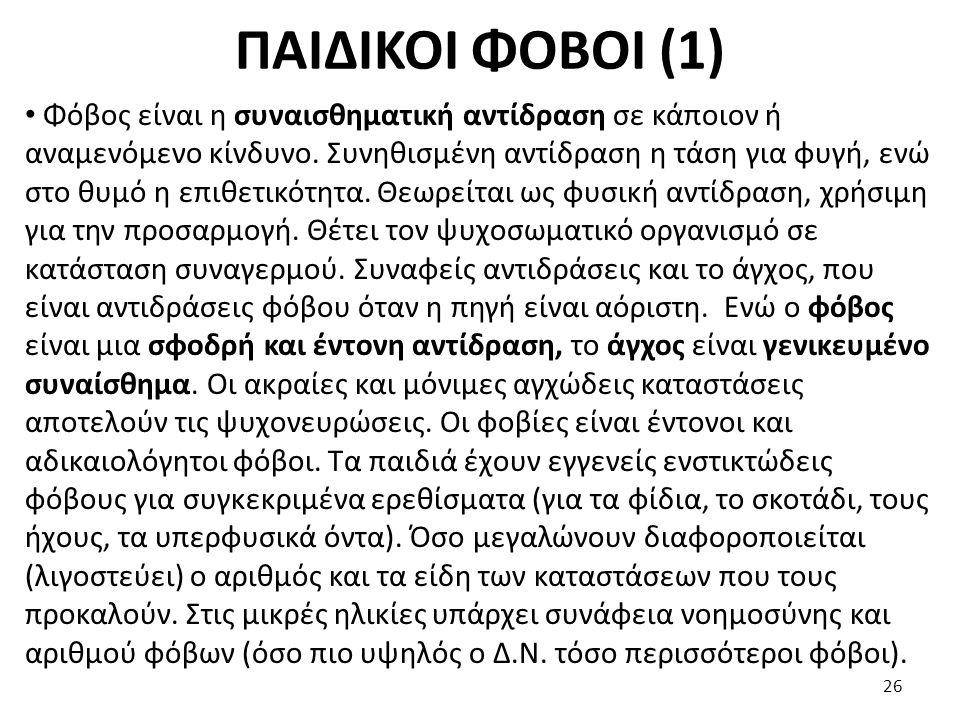 ΠΑΙΔΙΚΟΙ ΦΟΒΟΙ (1)
