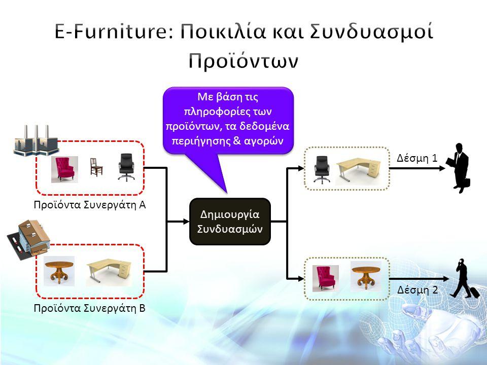 Ε-Furniture: Ποικιλία και Συνδυασμοί Προϊόντων