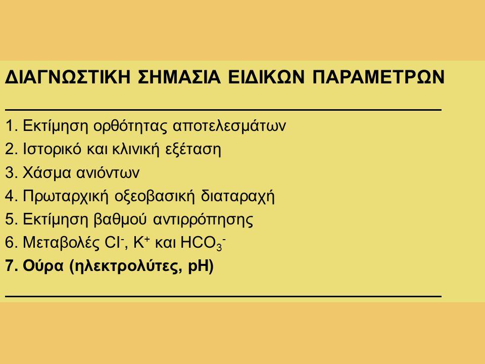 ΔΙΑΓΝΩΣΤΙΚΗ ΣΗΜΑΣΙΑ ΕΙΔΙΚΩΝ ΠΑΡΑΜΕΤΡΩΝ
