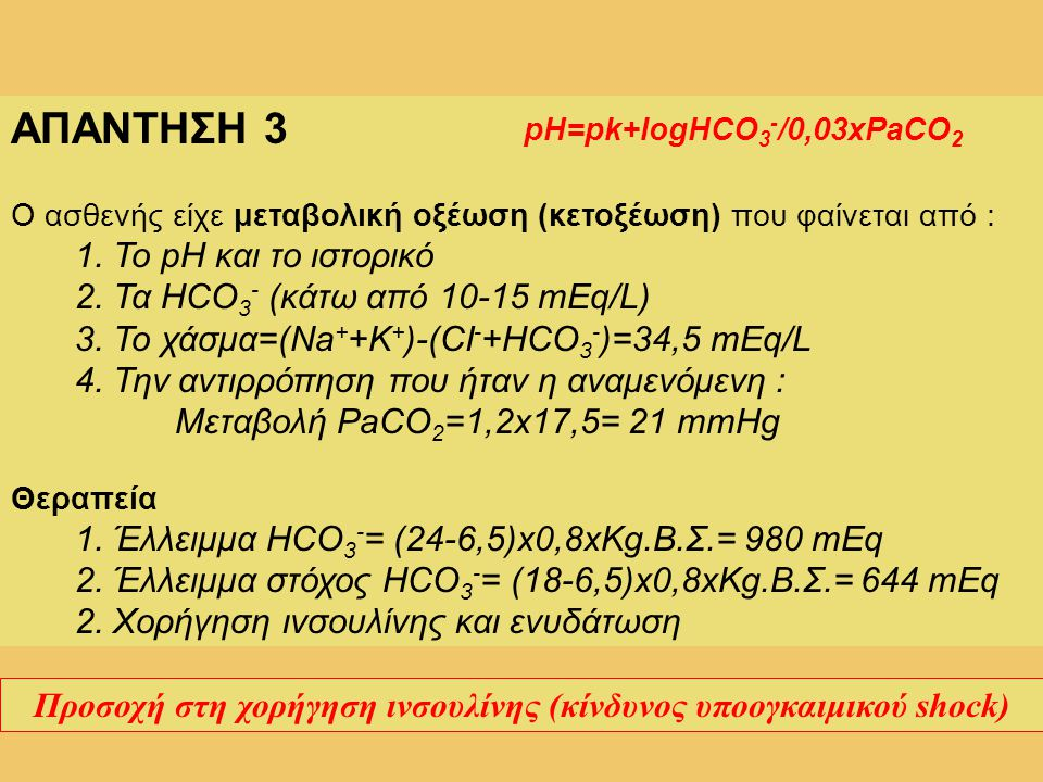 Προσοχή στη χορήγηση ινσουλίνης (κίνδυνος υποογκαιμικού shock)
