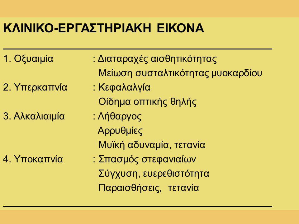 ΚΛΙΝΙΚΟ-ΕΡΓΑΣΤΗΡΙΑΚΗ ΕΙΚΟΝΑ