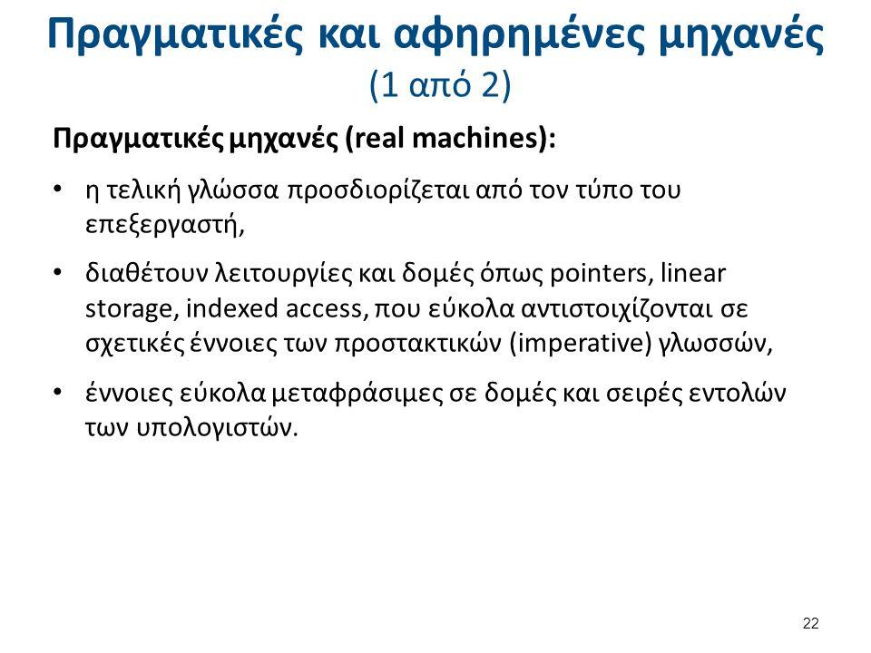 Πραγματικές και αφηρημένες μηχανές (2 από 2)