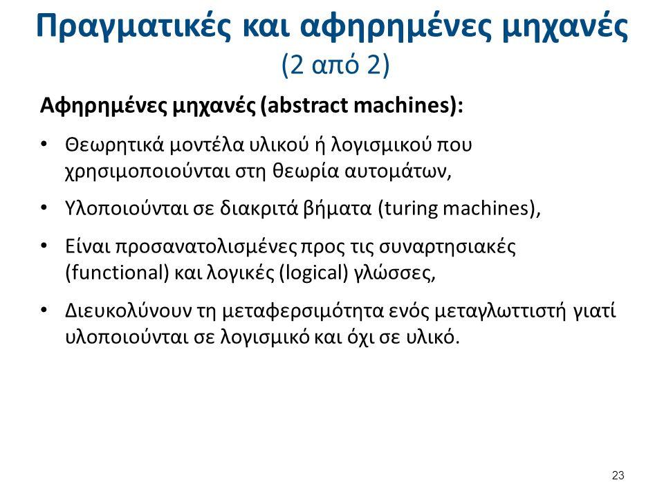 Αναγκαιότητα χρήσης αφηρημένων μηχανών (1 από 2)