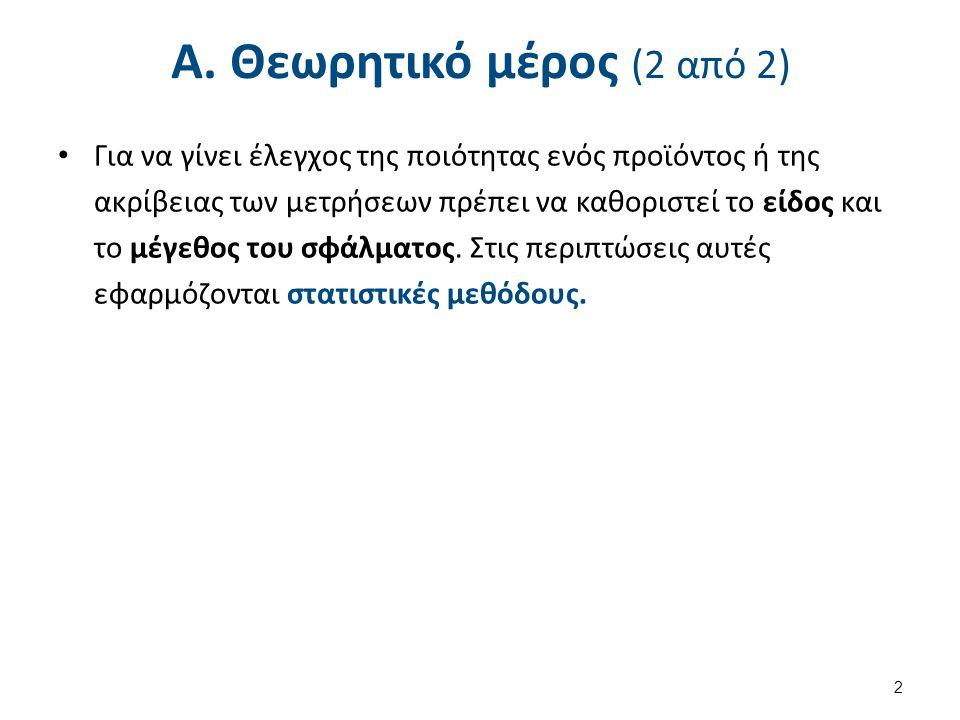 Είδη Σφαλμάτων (1 από 3) Τυχαία σφάλματα (Random errors)