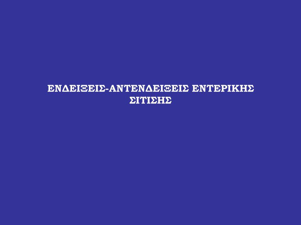 ΕΝΔΕΙΞΕΙΣ-ΑΝΤΕΝΔΕΙΞΕΙΣ ΕΝΤΕΡΙΚΗΣ ΣΙΤΙΣΗΣ