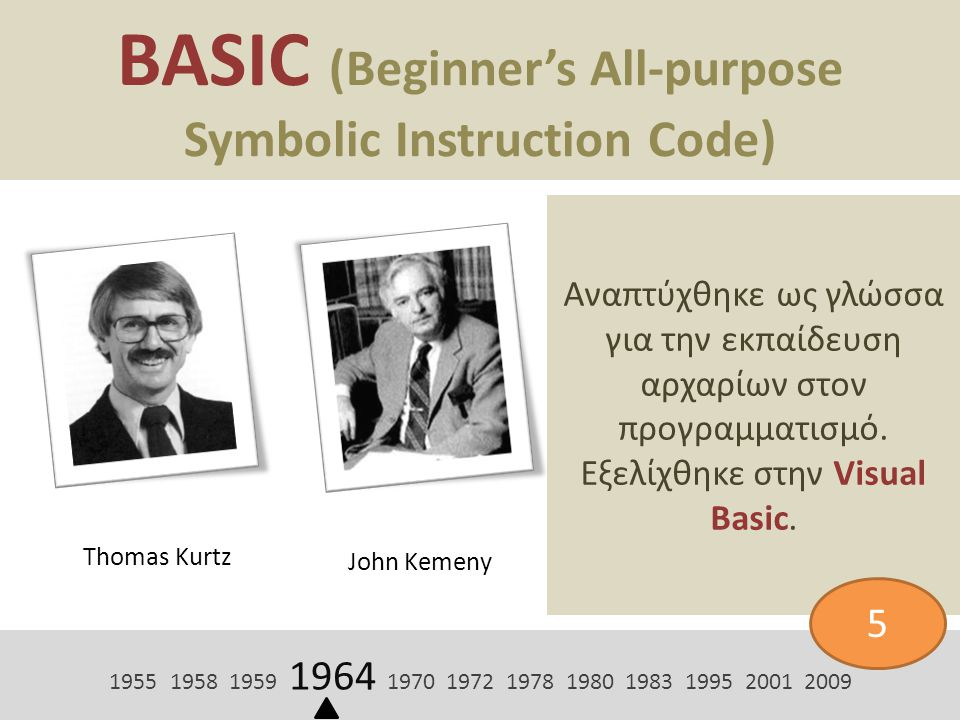 BASIC (Beginner's All-purpose Symbolic Instruction Code)