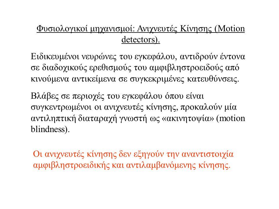 Φυσιολογικοί μηχανισμοί: Ανιχνευτές Κίνησης (Motion detectors).