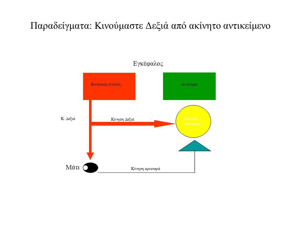 Παραδείγματα: Κινούμαστε Δεξιά από ακίνητο αντικείμενο