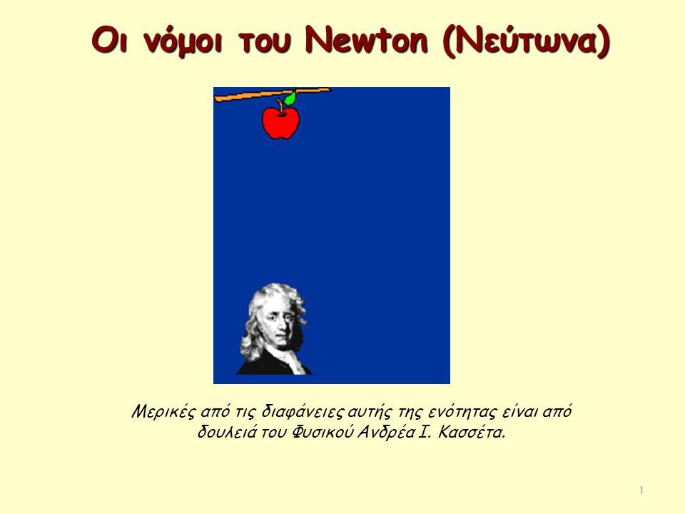 Οι νόμοι του Newton (Νεύτωνα)