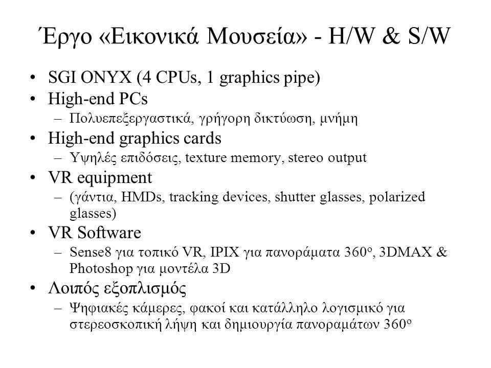 Έργο «Εικονικά Μουσεία» - H/W & S/W