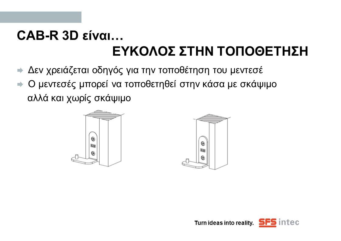CAB-R 3D είναι… ΕΥΚΟΛΟΣ ΣΤΗΝ ΤΟΠΟΘΕΤΗΣΗ