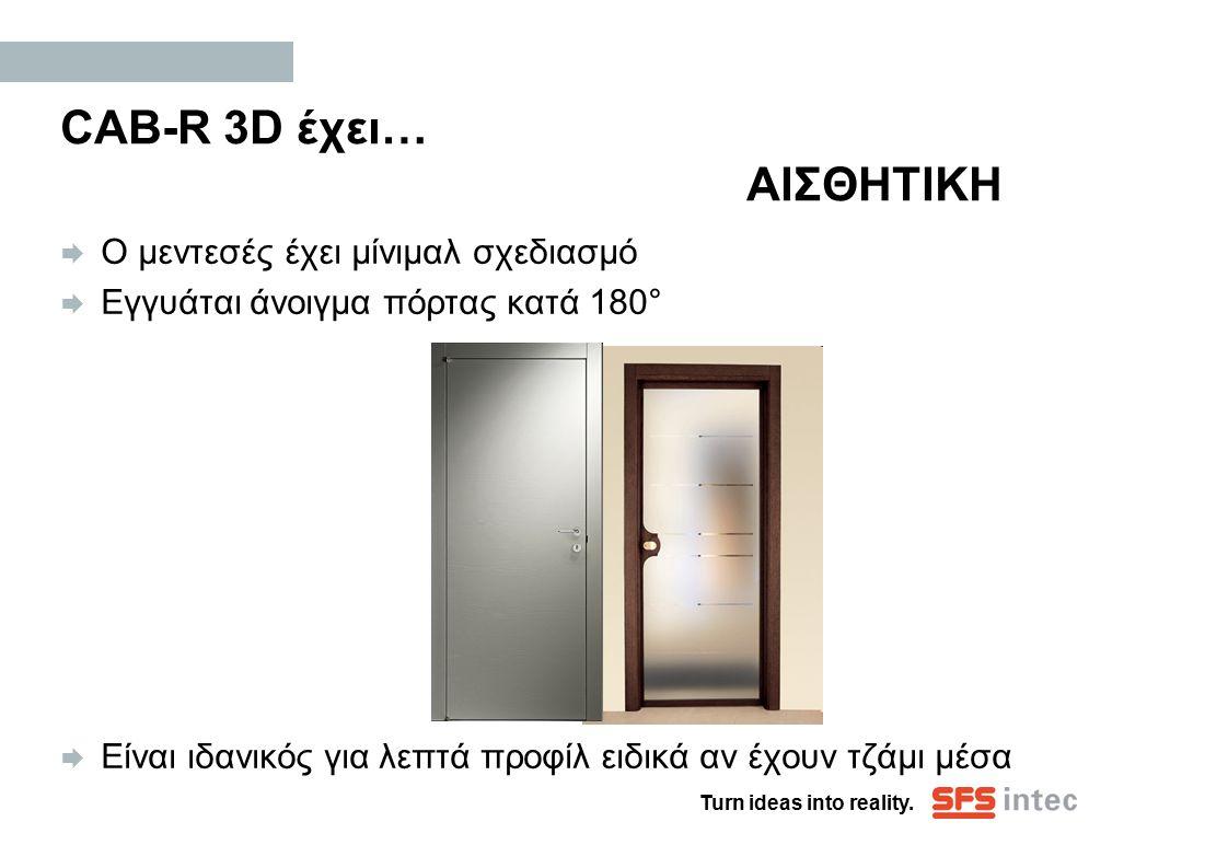 CAB-R 3D έχει… ΑΙΣΘΗΤΙΚΗ